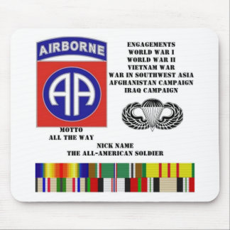 Engagements of  the 82nd  airborne division mouse pad