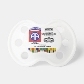 Engagements of  the 82nd  airborne division baby pacifiers