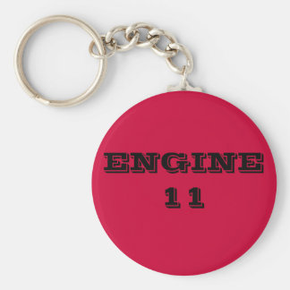 ENGINE 11 BASIC ROUND BUTTON KEYCHAIN