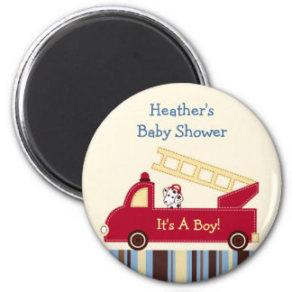 Engine 27 Fire Truck Puppy Party Favor Magnets