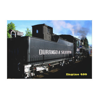Engine 480, Durango & Silverton NGRR Canvas Print