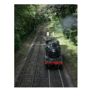Engine approaching Bishops Lydeard station Postcard