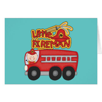 Engine Little Fireman Tshirts and Gifts Card