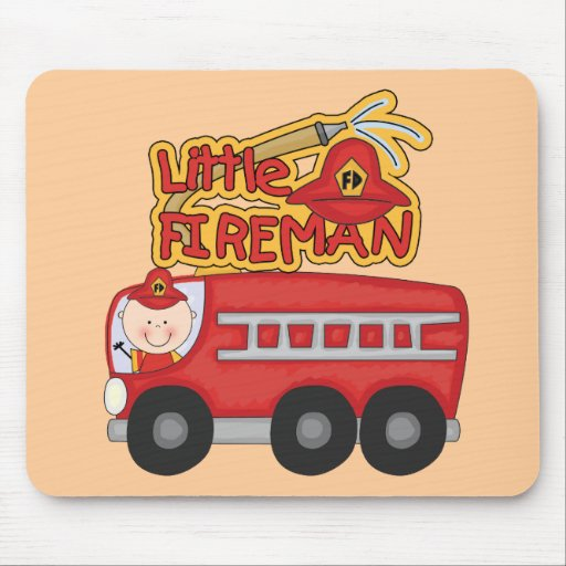 Engine Little Fireman Tshirts and Gifts Mousepads