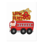 Engine Little Fireman Tshirts and Gifts Post Card