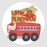 Engine Little Fireman Tshirts and Gifts Stickers