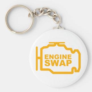 Engine Swap dark Basic Round Button Keychain