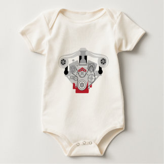 Engine Twin Turbo Vector Baby Bodysuit