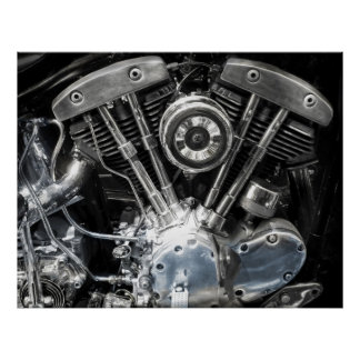 ENGINE V TWIN POSTER