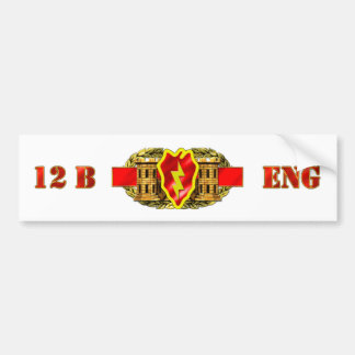 ENGINEER 12B 25TH ID BUMPER STICKER