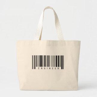 Engineer Barcode Large Tote Bag