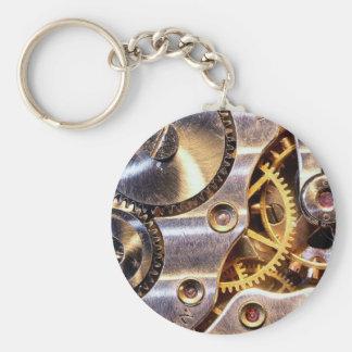 engineer basic round button keychain