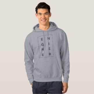Engineer Block Letters Men Hoodies