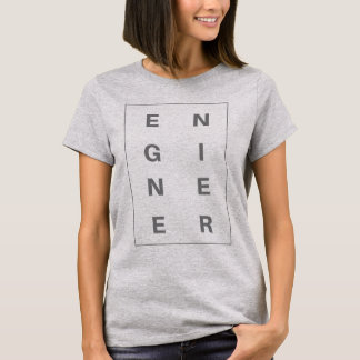 Engineer Block Letters Women T-shirt