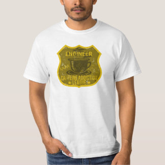 Engineer Caffeine Addiction League T-Shirt