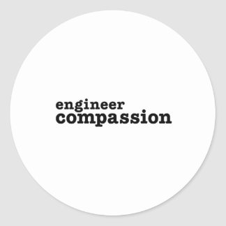 Engineer Compassion Classic Round Sticker