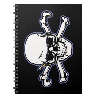 Engineer & Crossbones Spiral Notebook