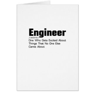 Engineer Definition  Funny Gift For Enginner Card