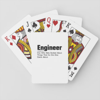 Engineer Definition  Funny Gift For Enginner Playing Cards