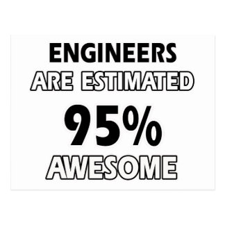 engineer designs postcard