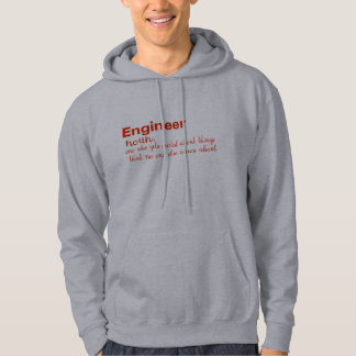 engineer dictionary meaning funny men's hoodie
