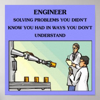 engineer engineering joke poster