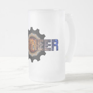 Engineer Frosted Glass Beer Mug