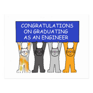 Engineer Graduate Congratulations Postcard