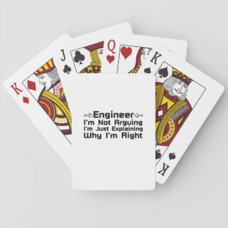 Engineer I'm Not Arguing Playing Cards