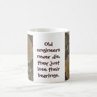 engineer lose their bearings basic white mug