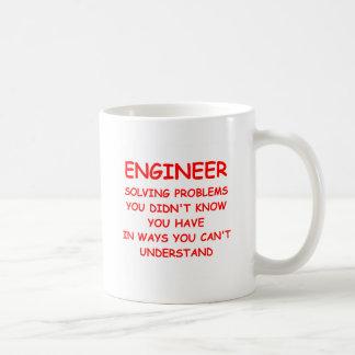 ENGINEER CLASSIC WHITE COFFEE MUG
