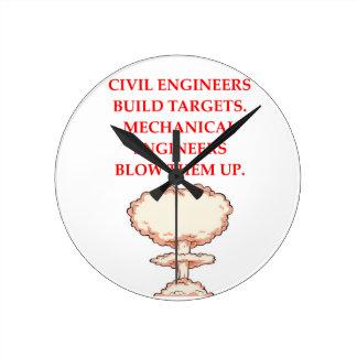 ENGINEER ROUND CLOCK
