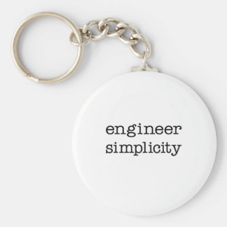 Engineer Simplicity Basic Round Button Keychain