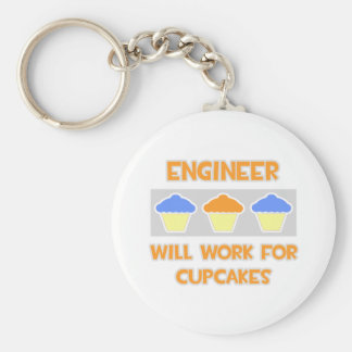 Engineer ... Will Work For Cupcakes Keychain