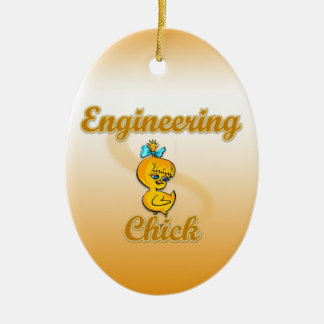 Engineering Chick Ceramic Ornament