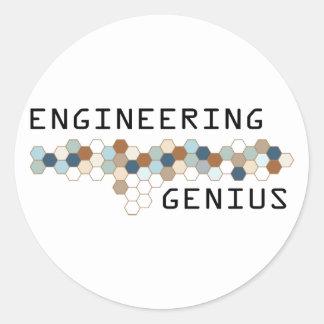 Engineering Genius Round Sticker