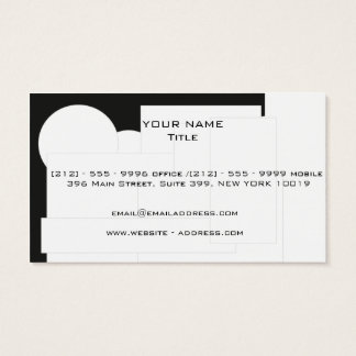 Engineering style business card