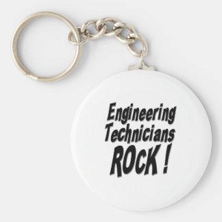 Engineering Technicians Rock! Keychain