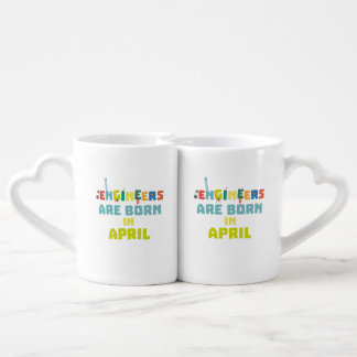 Engineers are born in April Z5h58 Coffee Mug Set
