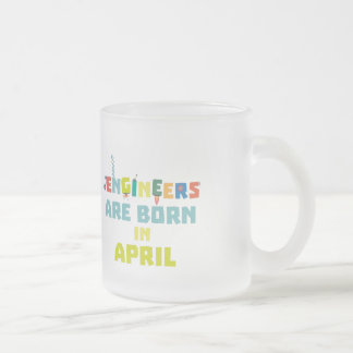 Engineers are born in April Z5h58 Frosted Glass Coffee Mug