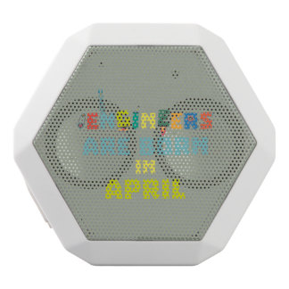 Engineers are born in April Z5h58 White Bluetooth Speaker