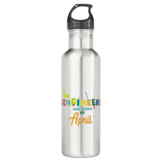 Engineers are born in April Zjz85 710 Ml Water Bottle