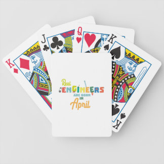 Engineers are born in April Zjz85 Bicycle Playing Cards