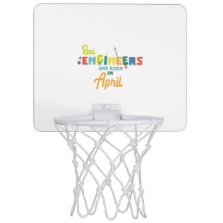 Engineers are born in April Zjz85 Mini Basketball Hoop