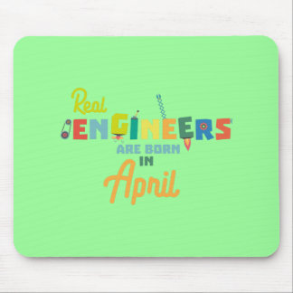 Engineers are born in April Zjz85 Mouse Pad