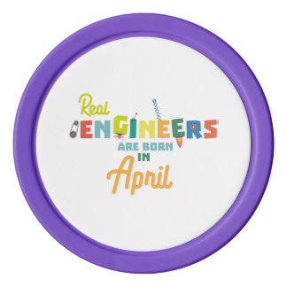 Engineers are born in April Zjz85 Poker Chips