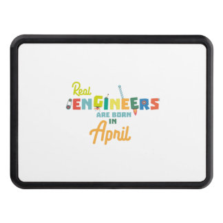 Engineers are born in April Zjz85 Trailer Hitch Cover