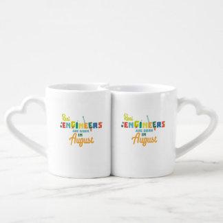 Engineers are born in August Z479b Coffee Mug Set