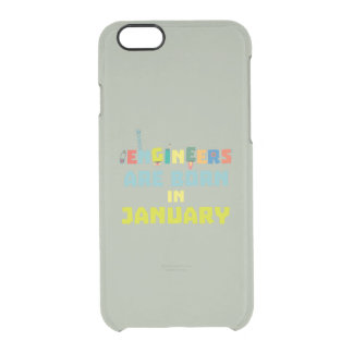 Engineers are born in January Zcu85 Clear iPhone 6/6S Case