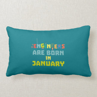 Engineers are born in January Zcu85 Lumbar Pillow